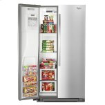 Whirlpool 36-inch Wide Side-by-Side Counter Depth Refrigerator with StoreRight Dual Cooling System - 20 cu. ft.