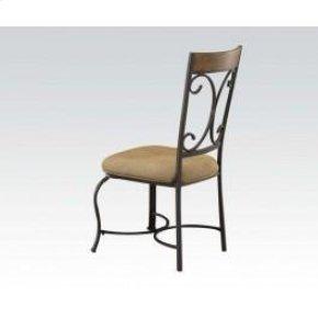 Side Chair W/wood Decor