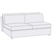 Como Armless Loveseat