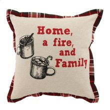 VE Home Plaid Natural Multi 18x18