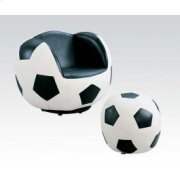 2pc Pk Soccer Chair , Ottoman Product Image