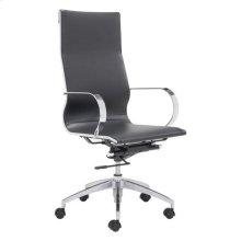 Glider Hi Back Office Chair Black