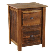 Barnwood Two Drawer File Cabinet - Hickory Legs