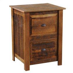 Barnwood Three Drawer File Cabinet - Barnwood Legs