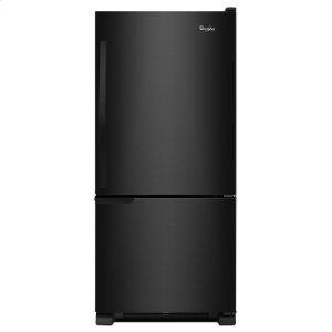 30-inches wide Bottom-Freezer Refrigerator with Accu-Chill System - 18.7 cu. ft. - BLACK