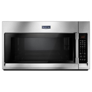 MaytagOver-The-Range Microwave With WideGlide Tray - 2.1 Cu. Ft. Fingerprint Resistant Stainless Steel