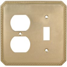 Combination Beaded Switchplate in (US3 Polished Brass, Lacquered)