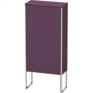 Semi-tall Cabinet Floorstanding, Aubergine Satin Matt Lacquer