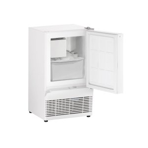 "U-LineAda Series 14"" Crescent Ice Maker With White Solid Finish and Field Reversible Door Swing (115 Volts / 60 Hz)"