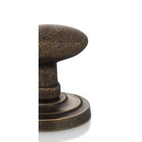 Modern Round Turnpiece in VB (Vintage Brass)