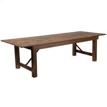 "9' x 40"" Rectangular Antique Rustic Solid Pine Folding Farm Table [XA-F-108X40-GG]"