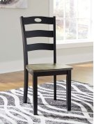 Froshburg - Grayish Brown/Black Set Of 2 Dining Room Chairs Product Image