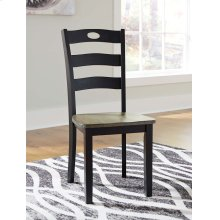 Froshburg - Grayish Brown/Black Set Of 2 Dining Room Chairs