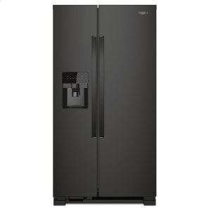 Whirlpool36-inch Wide Side-by-Side Refrigerator - 24 cu. ft. Black