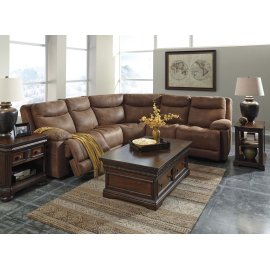 Valto 6-Pc Sectional LAF Zero Wall Pwr Recliner w/ Consoles, Armless Chair and RAF Zero Wall Power Recliner