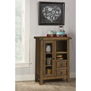 Hillsdale FurnitureTuscan Retreat(r) Coffee Cabinet - Metal Runner - Antique Pine