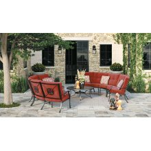 Burnella - Brown 7 Piece Patio Set