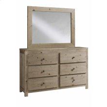 Drawer Dresser \u0026 Mirror - Natural Finish