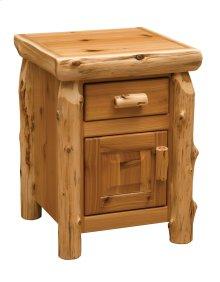 Cedar Enclosed Nightstand - Traditional Cedar