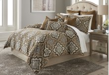 9pc Queen Comforter Set Saddle