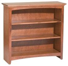 """GAC 36""""H x 36""""W McKenzie Alder Bookcase in Antique Cherry Finish"""