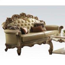 Gold Patina/bone Pu Sofa