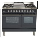 """40"""" - 5 Burner, Double Oven w/ Griddle in Matte Graphite Product Image"""