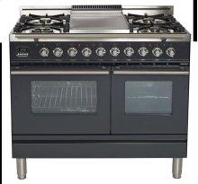 "40"" - 5 Burner, Double Oven w/ Griddle in Matte Graphite"