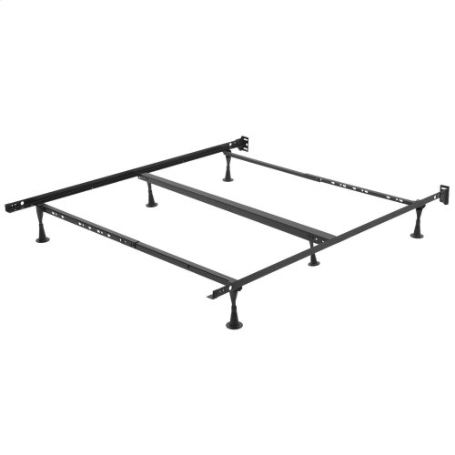 Restmore TK45G Universal Bed Frame with Fixed Headboard Brackets and (6) Leg Glides, Twin / California King