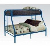 Blue Twin/queen Bunk Bed