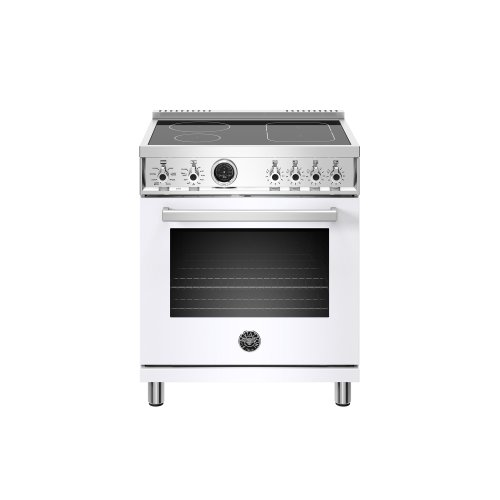 30 inch Induction Range, 4 Heating Zones, Electric Self-Clean Oven Bianco