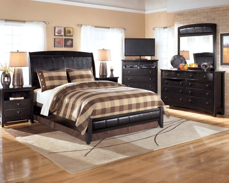 Harmony Dark Brown 2 Piece Bedroom Set