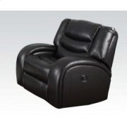 Black Bonded Recliner @n Product Image
