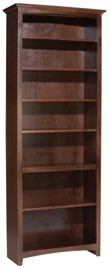 "CAF 84""H x 30""W McKenzie Alder Bookcase in Cafe Finish"