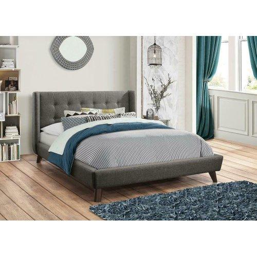 Carrington Grey Upholstered Full Bed