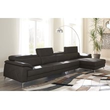 Tindell III Sectional Gray Right