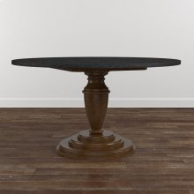 "Custom Dining 54"" Glass Table w/Round Tall"