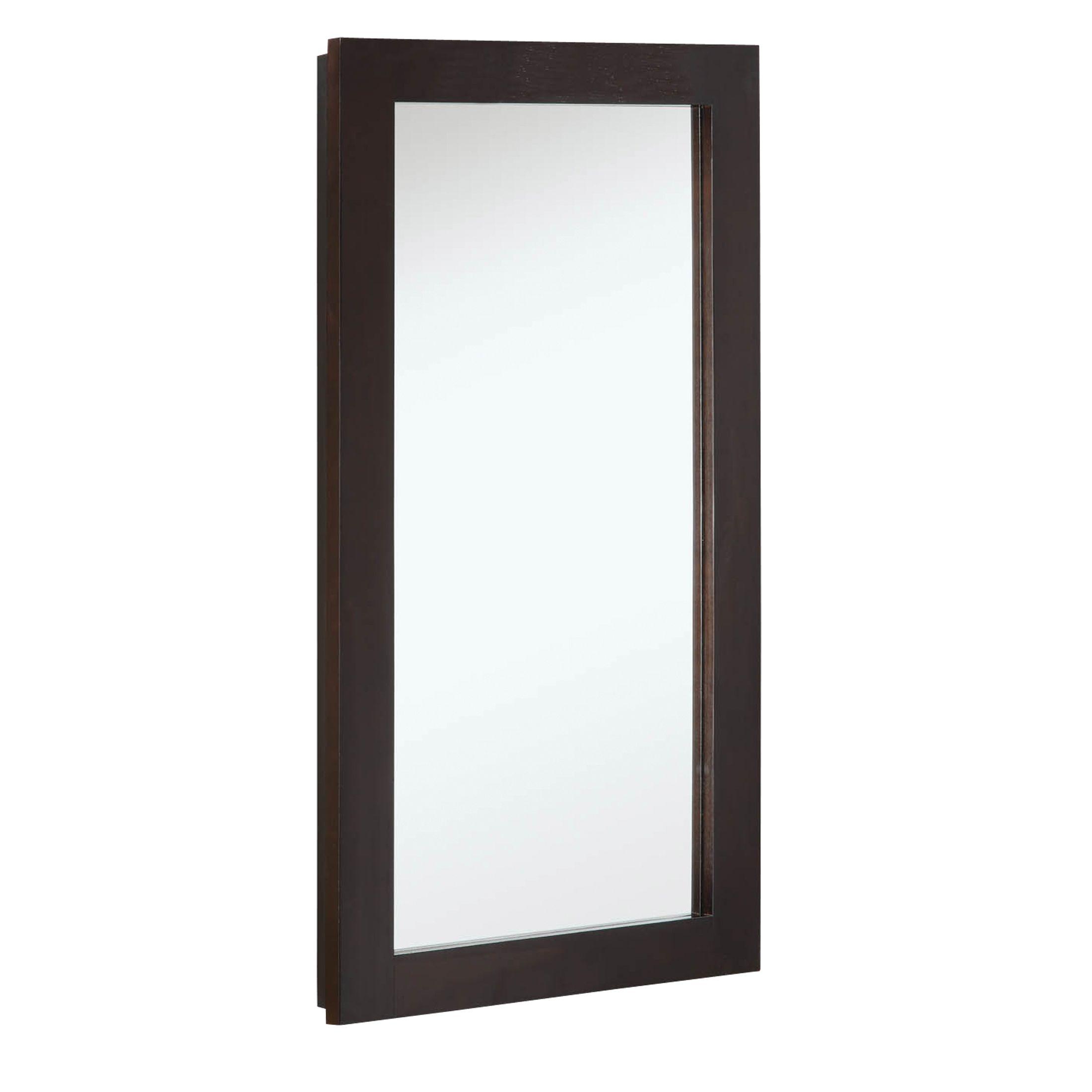 """Ventura 1-Door Medicine Cabinet Mirror 16"""", Espresso #541326"""
