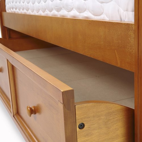 Casey Wood Roll Out Trundle Drawer for Daybed, Honey Maple Finish, Twin