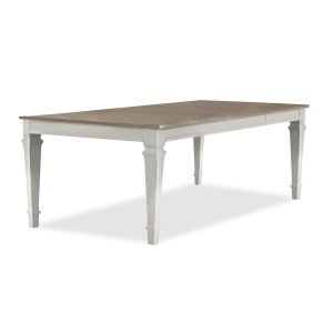 Hillsdale FurnitureRockport Rectangle Dining Table - White With Driftwood Top