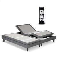 S-Cape 2.0 Adjustable Furniture-Style Bed Base with Wooden Legs and Wallhugger Technology, Charcoal Gray Finish, Split King Product Image