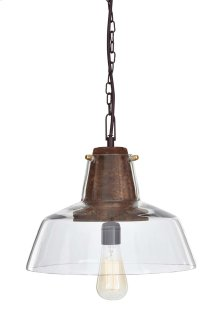 Glass Pendant Light (1/CN) Hajar - Clear/Brown Collection Ashley at Aztec Distribution Center Houston Texas