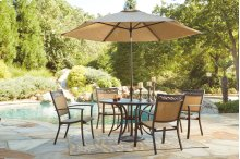 Carmadelia - Tan/Brown 2 Piece Patio Set (Umbrella Sold Separate)