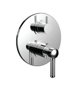 "1/2"" Thermostatic Trim With Volume Control and 3-way Diverter in Standard Pewter"