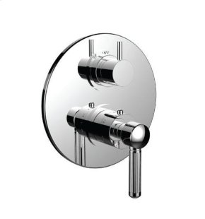"""1/2"""" Thermostatic Trim With Volume Control and 3-way Diverter in Satin Rose Gold"""