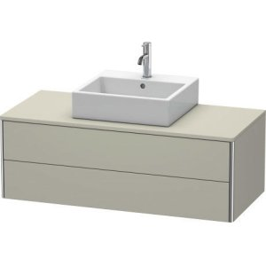 Vanity Unit For Console Wall-mounted, Taupe Satin Matt Lacquer