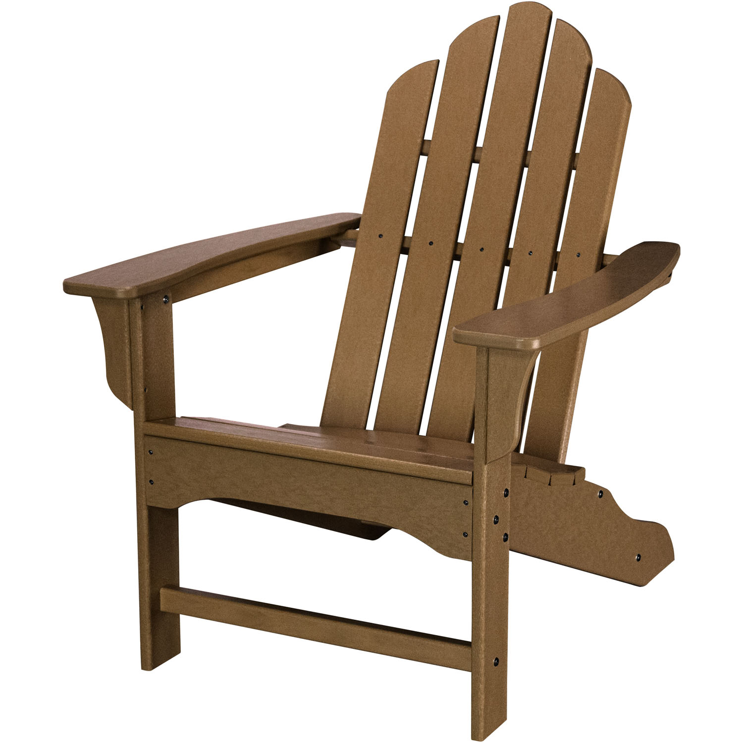 All Weather Contoured Adirondack Chair   Teak