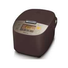 10 Cup (uncooked) Microcomputer Controlled Rice Cooker - Brown - SR-ZS185