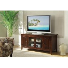 CHOCOLATE FINISH TV STAND
