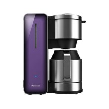 Coffee Maker with High Quality Stainless Steel & Glass Finish, Violet